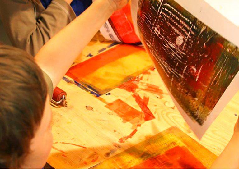 Druckwerkstatt und Farbschleuder